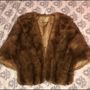 Vintage mink shawl, Great condition
